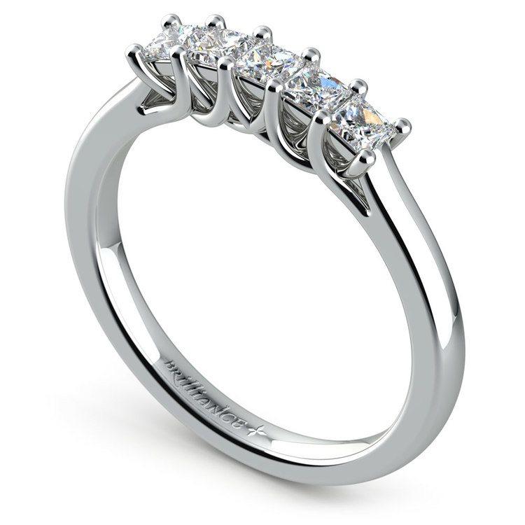 Princess Trellis Diamond Wedding Ring in White Gold (1/2 ctw) | 04