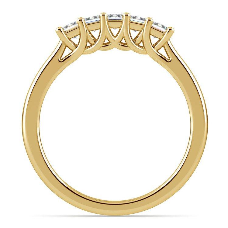 Princess Trellis Diamond Wedding Ring in Yellow Gold (1/2 ctw) | 03