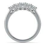 Princess Trellis Diamond Wedding Ring in Platinum (1 ctw) | Thumbnail 03