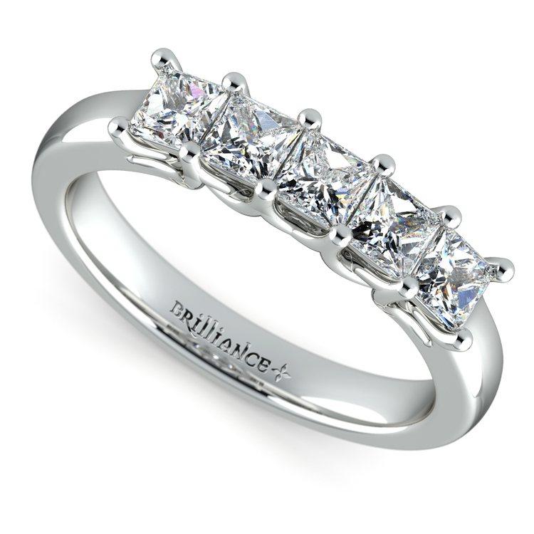 Princess Trellis Diamond Wedding Ring in Platinum (1 ctw) | 01