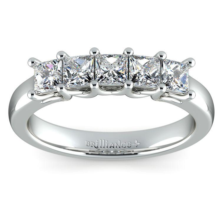 Princess Trellis Diamond Wedding Ring in Platinum (1 ctw) | 02
