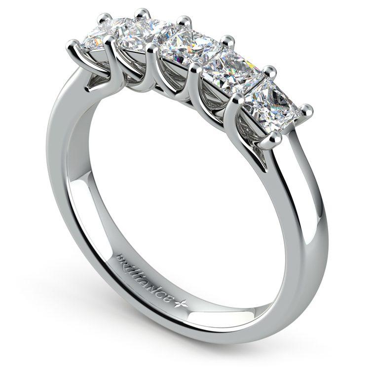 Princess Trellis Diamond Wedding Ring in Platinum (1 ctw) | 04