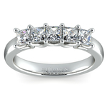 Princess Trellis Diamond Wedding Ring in White Gold (1 ctw) | Thumbnail 02