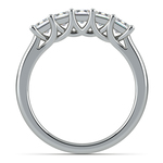 Princess Trellis Diamond Wedding Ring in White Gold (1 ctw) | Thumbnail 03