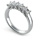 Princess Trellis Diamond Wedding Ring in White Gold (1 ctw) | Thumbnail 04