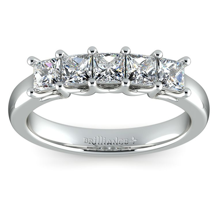 Princess Trellis Diamond Wedding Ring in White Gold (1 ctw) | 02