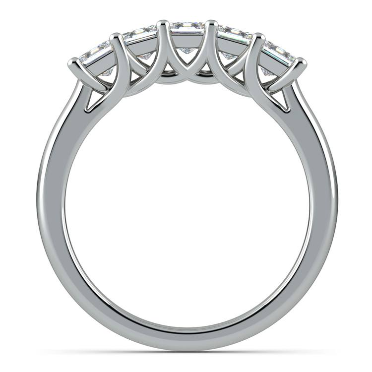 Princess Trellis Diamond Wedding Ring in White Gold (1 ctw) | 03
