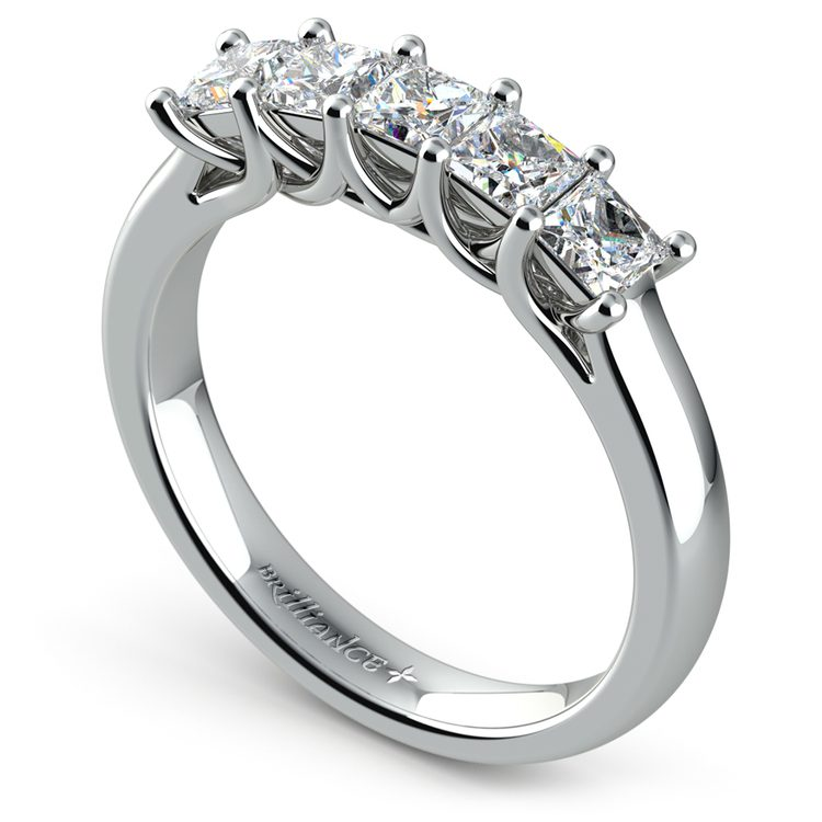 Princess Trellis Diamond Wedding Ring in White Gold (1 ctw) | 04