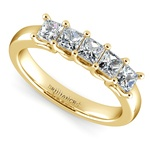 Princess Trellis Diamond Wedding Ring in Yellow Gold (1 ctw)   Thumbnail 01
