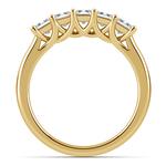 Princess Trellis Diamond Wedding Ring in Yellow Gold (1 ctw)   Thumbnail 03
