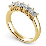 Princess Trellis Diamond Wedding Ring in Yellow Gold (1 ctw)   Thumbnail 04