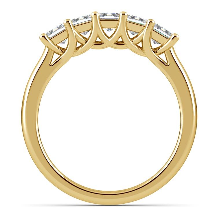 Princess Trellis Diamond Wedding Ring in Yellow Gold (1 ctw)   03