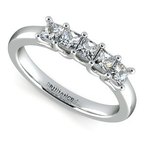 Princess Trellis Diamond Wedding Ring in Platinum (3/4 ctw)