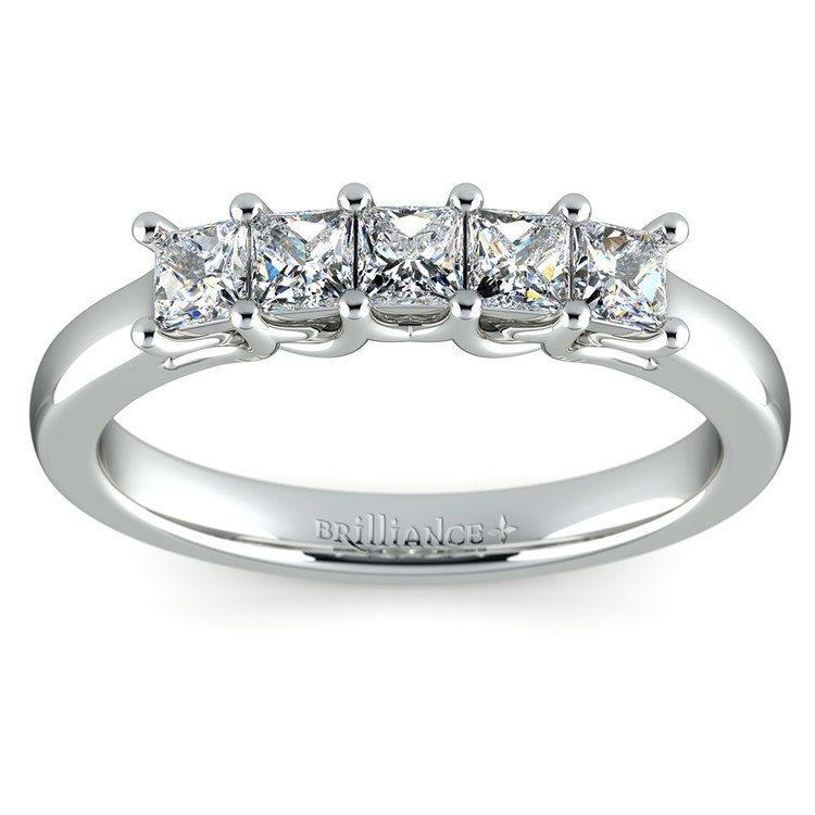 Princess Trellis Diamond Wedding Ring in Platinum (3/4 ctw)   02