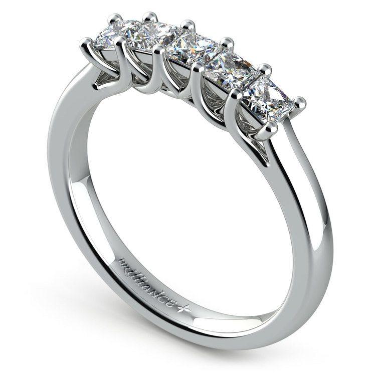 Princess Trellis Diamond Wedding Ring in Platinum (3/4 ctw)   04