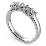 Princess Trellis Diamond Wedding Ring in White Gold (3/4 ctw) | Thumbnail 04