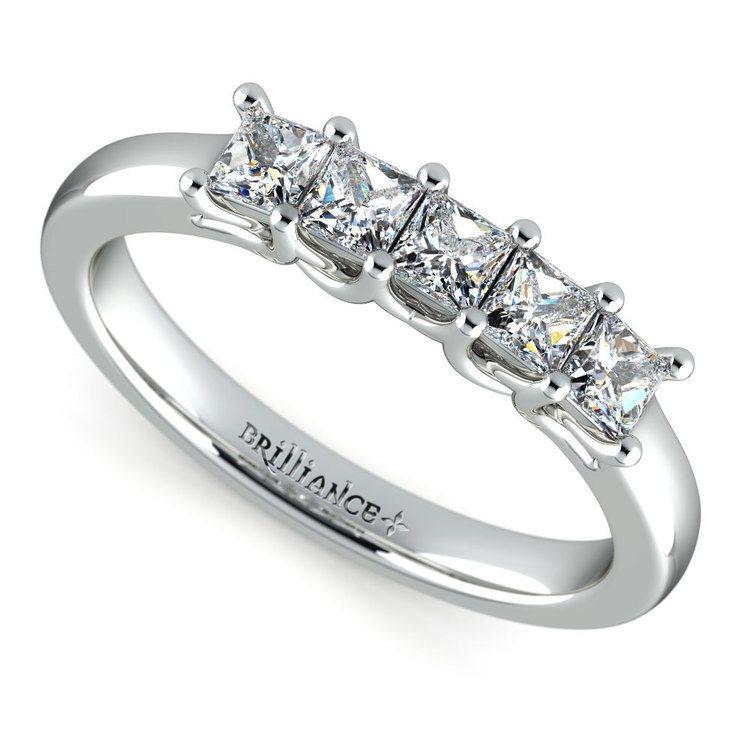 Princess Trellis Diamond Wedding Ring in White Gold (3/4 ctw) | 01