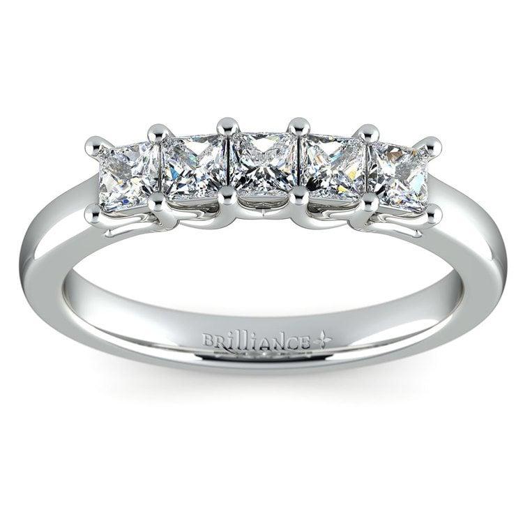 Princess Trellis Diamond Wedding Ring in White Gold (3/4 ctw) | 02