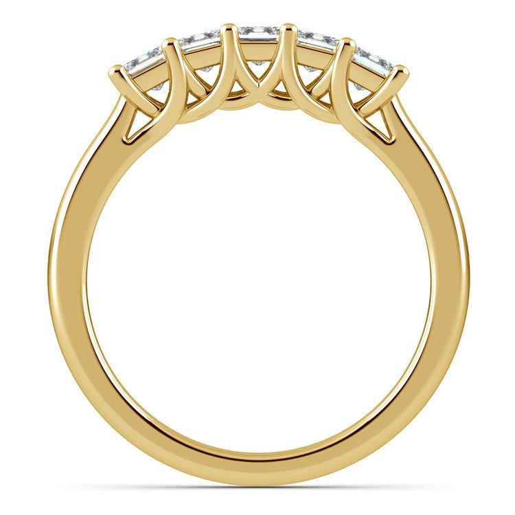 Princess Trellis Diamond Wedding Ring in Yellow Gold (3/4 ctw) | 03