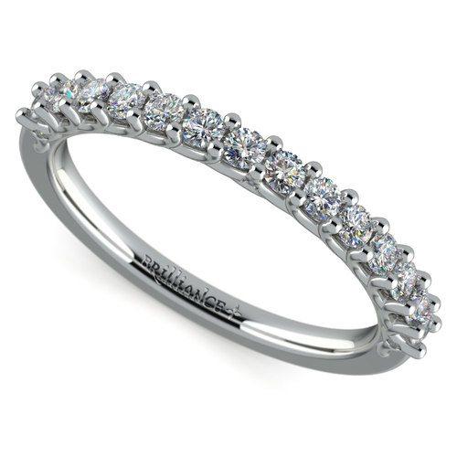 Reverse Trellis Diamond Wedding Ring In Platinum