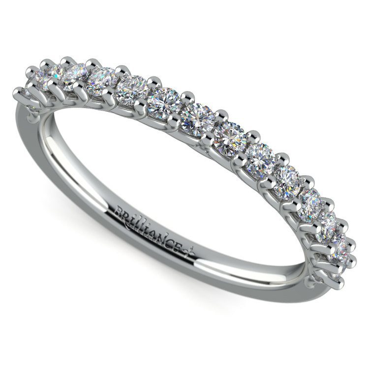 Reverse Trellis Diamond Wedding Ring in Platinum | 01