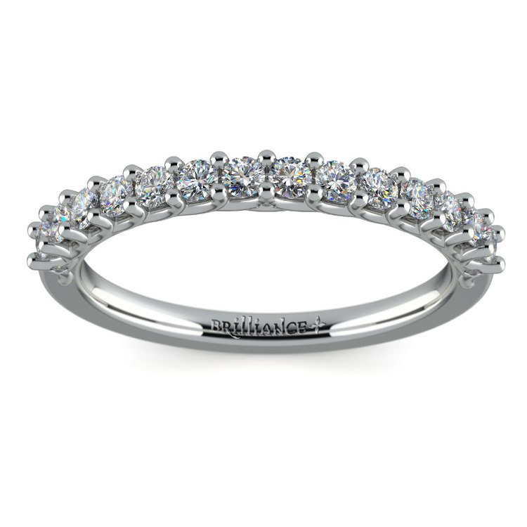 Reverse Trellis Diamond Wedding Ring in Platinum | 02