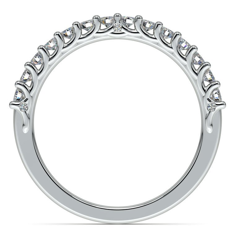 Reverse Trellis Diamond Wedding Ring in White Gold | 03