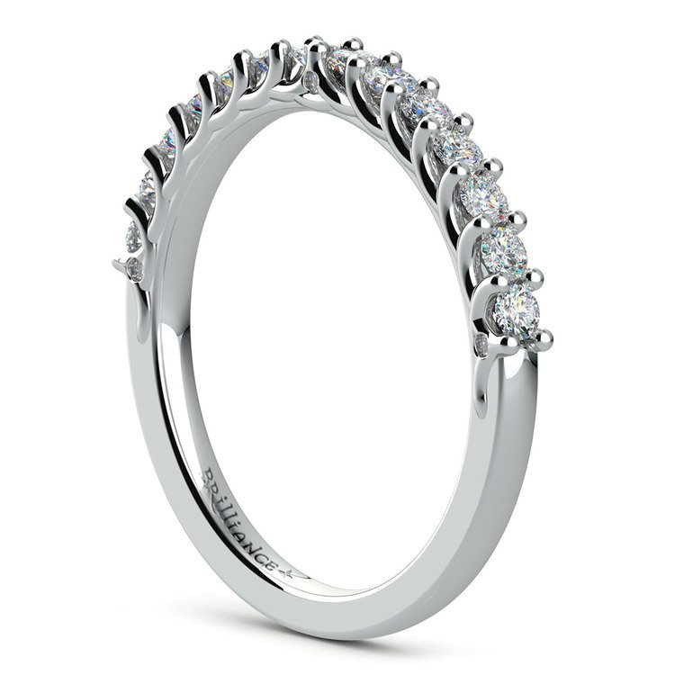 Reverse Trellis Diamond Wedding Ring in White Gold | 04