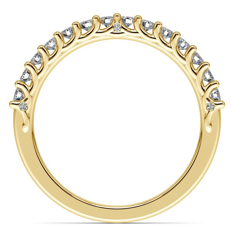 Reverse Trellis Diamond Wedding Ring in Yellow Gold | 03