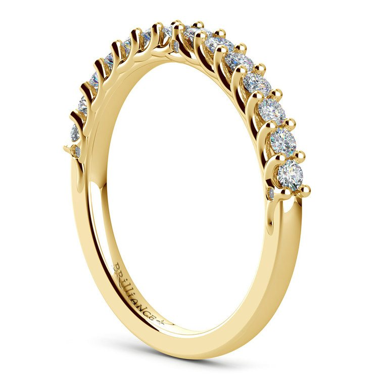 Reverse Trellis Diamond Wedding Ring in Yellow Gold | 04