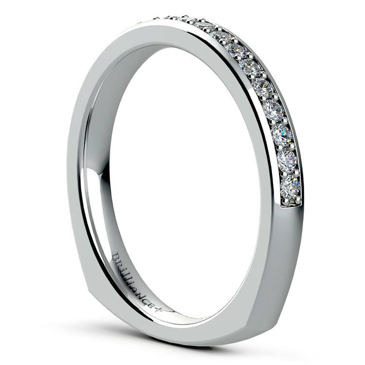 Rocker (European) Diamond Wedding Ring in Palladium | 04