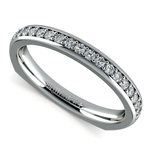 Rocker (European) Diamond Wedding Ring in White Gold | Thumbnail 01