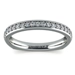 Rocker (European) Diamond Wedding Ring in White Gold | Thumbnail 02