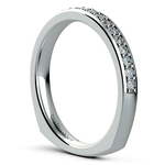 Rocker (European) Diamond Wedding Ring in White Gold | Thumbnail 04