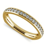 Rocker (European) Diamond Wedding Ring in Yellow Gold | Thumbnail 01