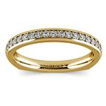 Rocker (European) Diamond Wedding Ring in Yellow Gold | Thumbnail 02