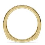 Rocker (European) Diamond Wedding Ring in Yellow Gold | Thumbnail 03