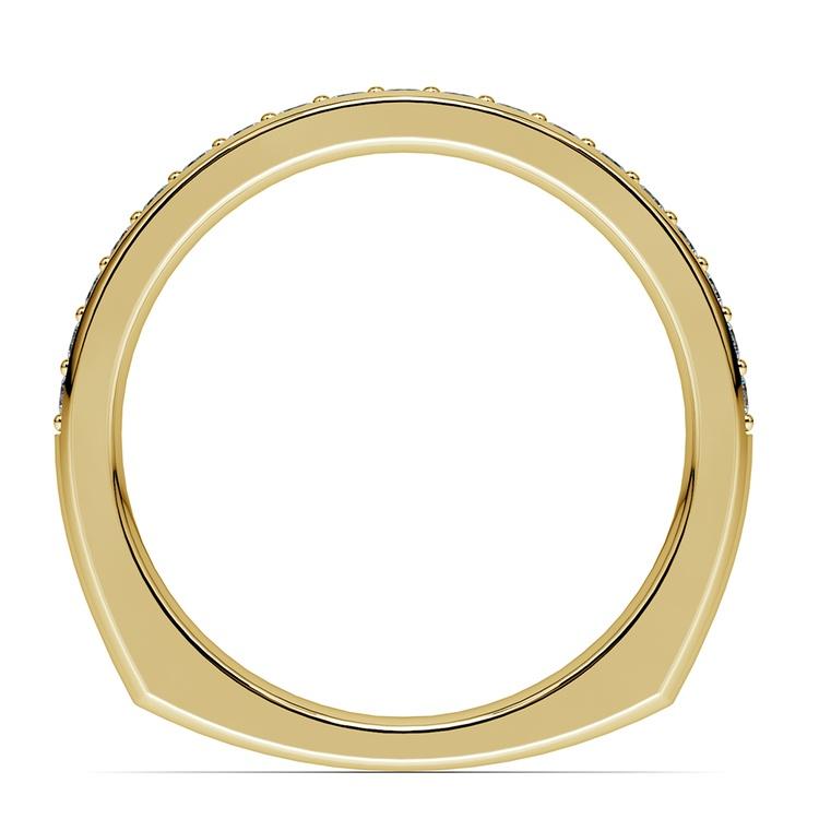 Rocker (European) Diamond Wedding Ring in Yellow Gold | 03