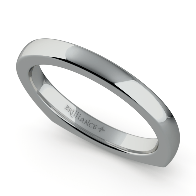 Rocker (European) Wedding Ring in Palladium (2.5mm) | 01