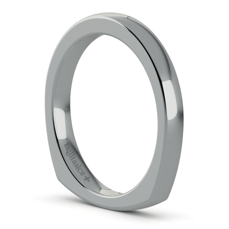 Rocker (European) Wedding Ring in Platinum (2.5mm) | 05