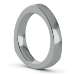 Rocker (European) Wedding Ring in Platinum (3.5mm) | Thumbnail 02