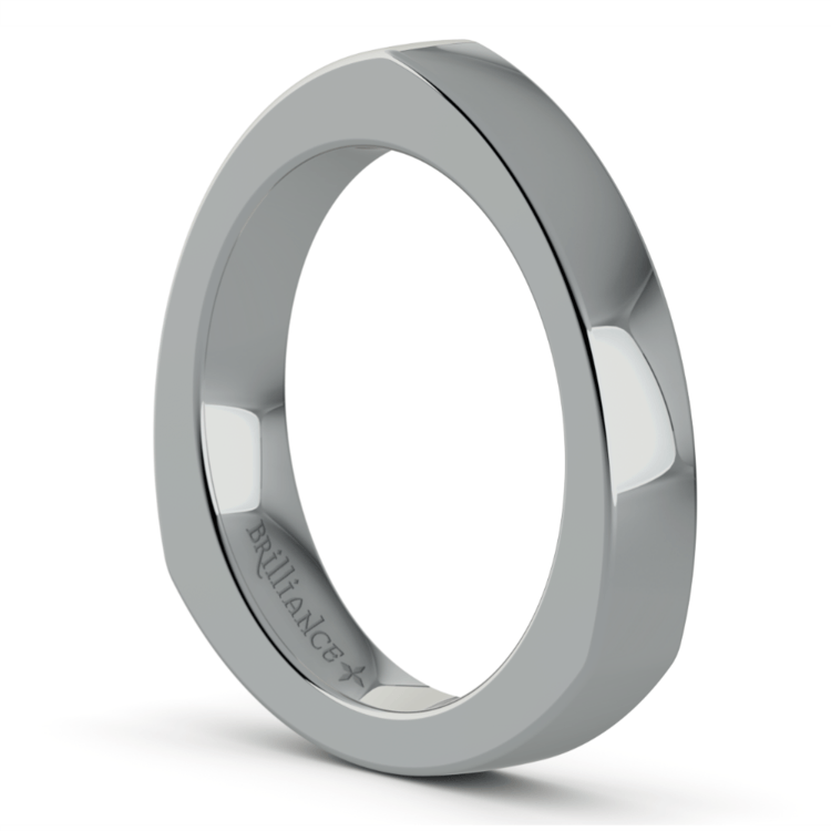 Rocker (European) Wedding Ring in Platinum (3.5mm) | 02
