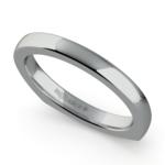 Rocker (European) Wedding Ring in White Gold (2.5mm) | Thumbnail 01