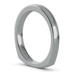 Rocker (European) Wedding Ring in White Gold (2.5mm) | Thumbnail 05
