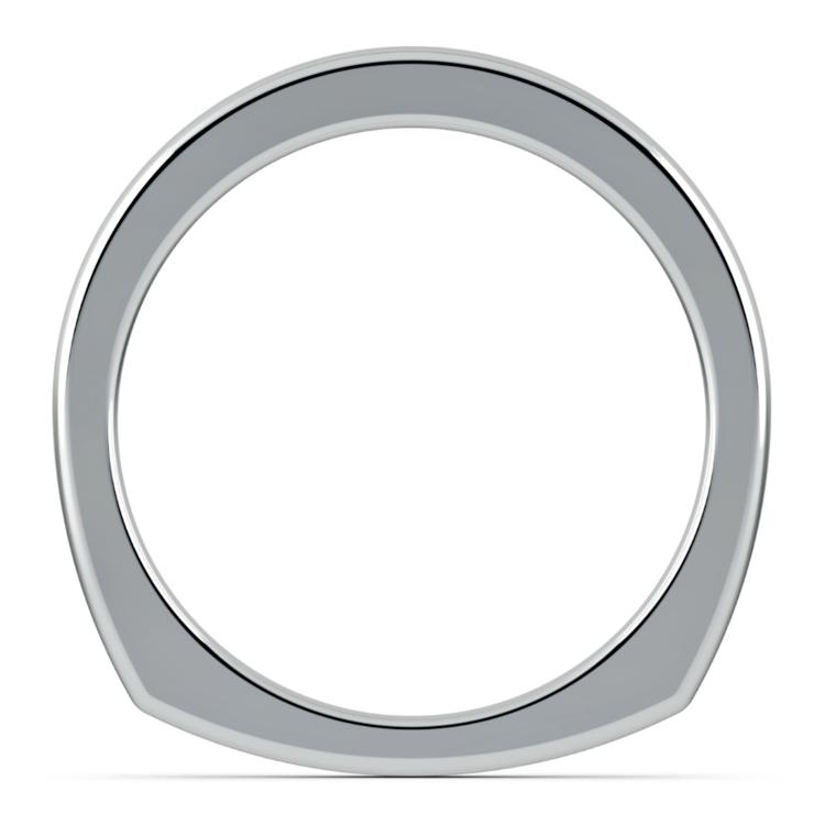 Rocker (European) Wedding Ring in White Gold (2.5mm) | 03