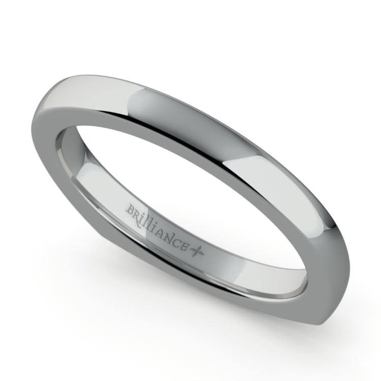 Rocker (European) Wedding Ring in White Gold (2.5mm) | 01