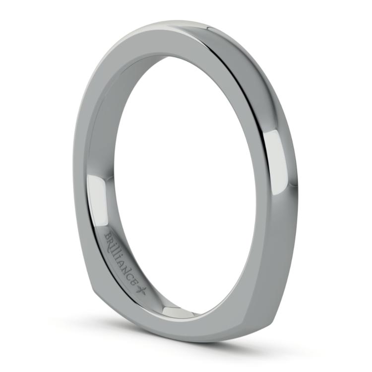 Rocker (European) Wedding Ring in White Gold (2.5mm) | 05