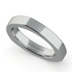 Rocker (European) Wedding Ring in White Gold (3.5mm) | Thumbnail 01