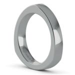 Rocker (European) Wedding Ring in White Gold (3.5mm) | Thumbnail 02
