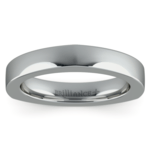 Rocker (European) Wedding Ring in White Gold (3.5mm) | Thumbnail 03